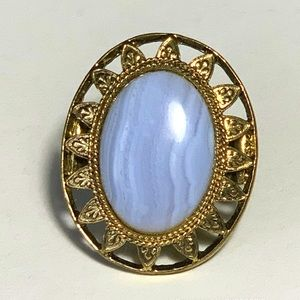 Vintage Large Stone Ring Jewelry Size 7